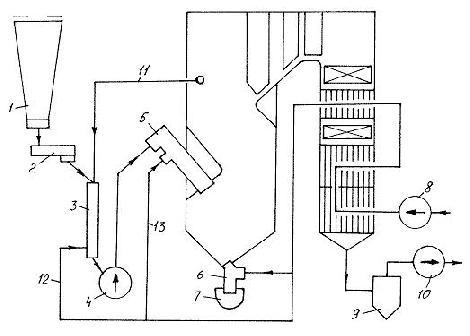 Схема котла ТП-14А,